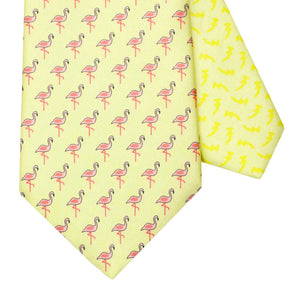 Men's Flamingo Yellow Silk Tie