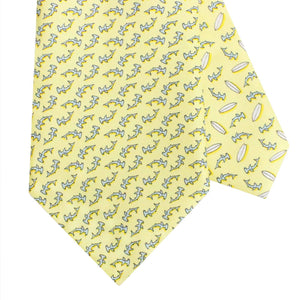Men's Hammerhead Shark Yellow Silk Tie