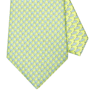 Men's Shells Yellow Silk Tie