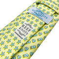 yellow octopus animal printed silk tie
