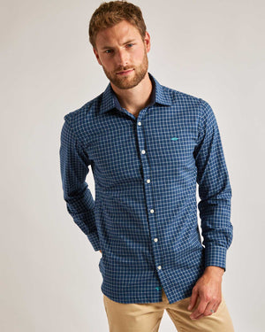 Blue Willard Cotton Shirt