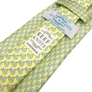 yellow shell silk tie
