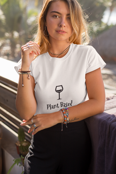 T-Shirt Vegan Wine Lovers Plant Based