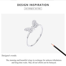 Load image into Gallery viewer, BUTTERFLY 925 Sterling Silver Ring