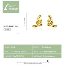 Load image into Gallery viewer, KNOT 925 Sterling Silver Earrings