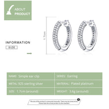 Load image into Gallery viewer, SIMPLICITÉ 925 Sterling Silver Earrings