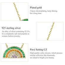 Load image into Gallery viewer, RAINBOW 925 Sterling Silver Necklace