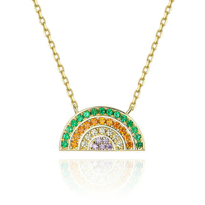 RAINBOW 925 Sterling Silver Necklace