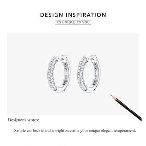 SIMPLICITÉ 925 Sterling Silver Earrings