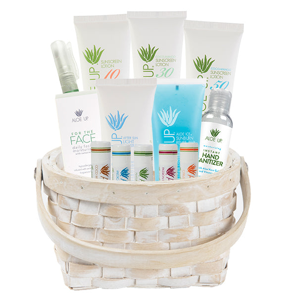 White Collection Holiday Basket - Medium