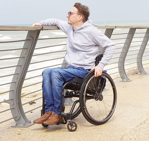 Wheelchair Jeans | Men's Basic Stretch Fabric Seated Jeans