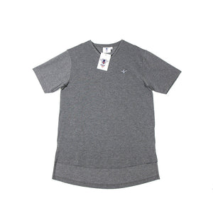 Men's Exclusive Seated Charcoal V-Neck T-Shirt - FUSCI Seated Clothing