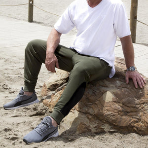 Men's Exclusive Seated Khaki Jogger Pant - FUSCI Seated Clothing
