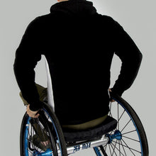 Load image into Gallery viewer, Men's Exclusive Seated Wheelchair Black Hoodie - FUSCI Seated Clothing