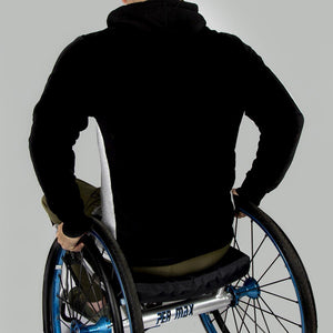 Men's Exclusive Seated Wheelchair Black Hoodie - FUSCI Seated Clothing