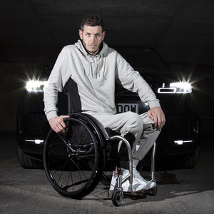 Men's Exclusive Seated Wheelchair Stone Hoodie - FUSCI Seated Clothing
