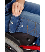 Load image into Gallery viewer, Seven7 Women's Jagger Adaptive Wheelchair Easy Straight Cut Jean - FUSCI Seated Clothing