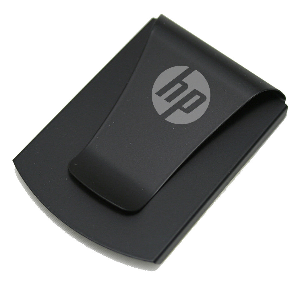 Storus® Promotions - Smart Money Clip rubberized finish with HP engraved - designed by #ScottKaminski #Storus #jewelrycase #travelcase #PromotionalProducts #PromotionDistributors #Distributors #customizable #engravable #personalize