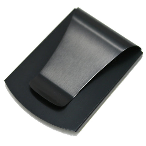Storus® Promotions - Smart Money Clip Brushed Matte Black without engraving - designed by #ScottKaminski #Storus #jewelrycase #travelcase #PromotionalProducts #PromotionDistributors #Distributors #customizable #engravable #personalize