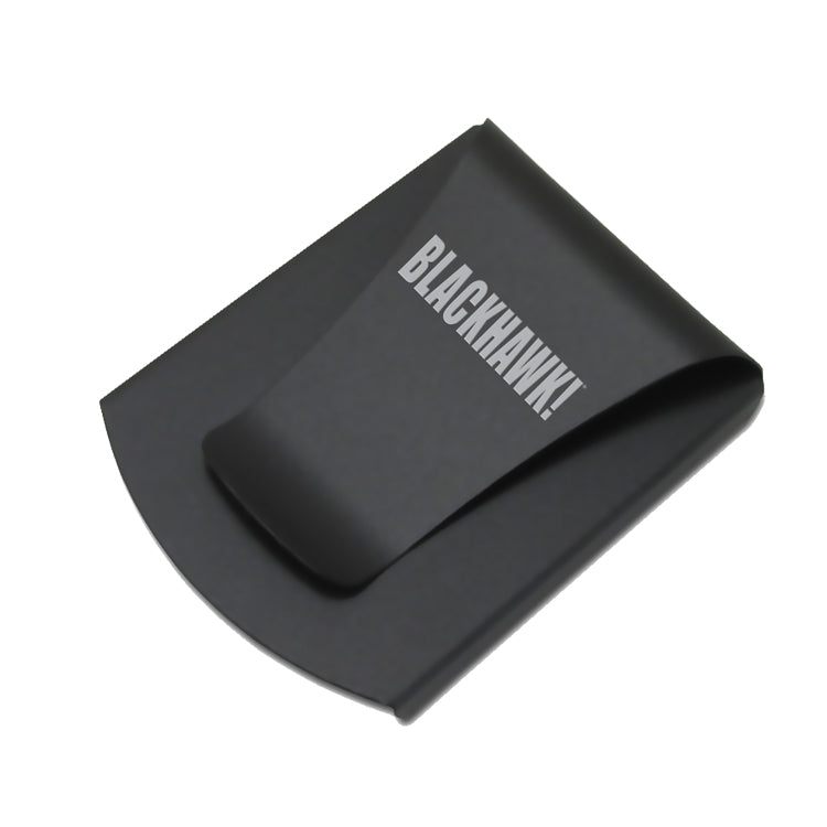 Storus® Promotions - Smart Money Clip Gunmetal Finish with Blackhawk engraving - designed by #ScottKaminski #Storus #jewelrycase #travelcase #PromotionalProducts #PromotionDistributors #Distributors #customizable #engravable #personalize