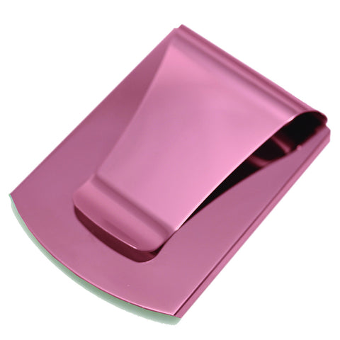 Storus® Promotions - Smart Money Clip Pink Finish without engraving - designed by #ScottKaminski #Storus #jewelrycase #travelcase #PromotionalProducts #PromotionDistributors #Distributors #customizable #engravable #personalize