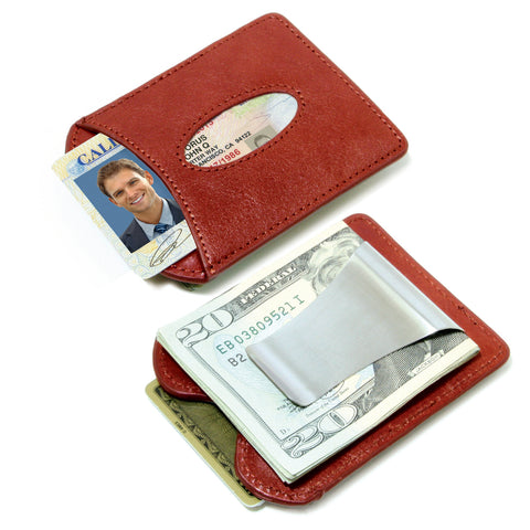Storus® Promotions - Smart Money Clip Leather - both sides shown side by side  - designed by #ScottKaminski #Storus #wallet #moneyclips #mensaccessories #PromotionalIndustry #PromotionalProducts #PromotionDistributors #Distributors #customizable #engravable #personalize