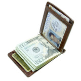 Storus® Promotions - Razor Wallet shown open and filled - designed by #ScottKaminski #Storus #wallet #moneyclips #mensaccessories #PromotionalIndustry #PromotionalProducts #PromotionDistributors #Distributors #customizable #engravable #personalize