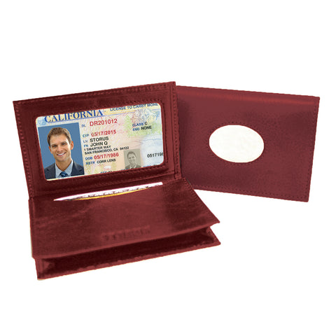 Storus® Promotions - Red Smart Card Case Leather - shown with metal plate - by #ScottKaminski #Storus #cardcase #metalwallet #wallets #mensaccessories #man #life #lovethis #promotionalitems
