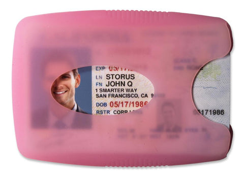 Storus® Jelly Wallets - pink color shown - #wallets #moneyclip #man #StorusPromotions #Storus #ScottKaminski #PromotionalIndustry #PromotionalProducts #PromotionDistributors #Distributors #customizable #engravable #personalize