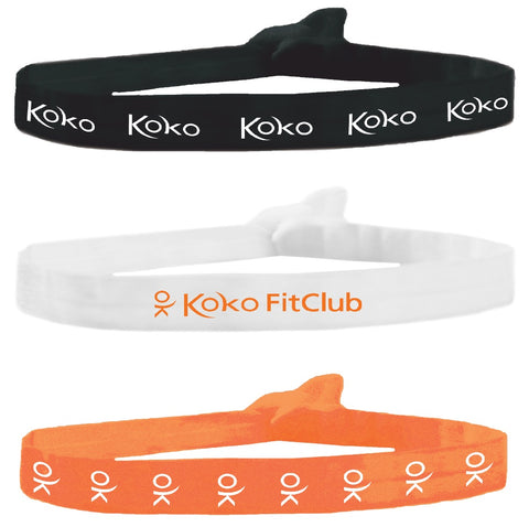 Mia® Tony Ties hair ties - printing example for Koko Fit Club