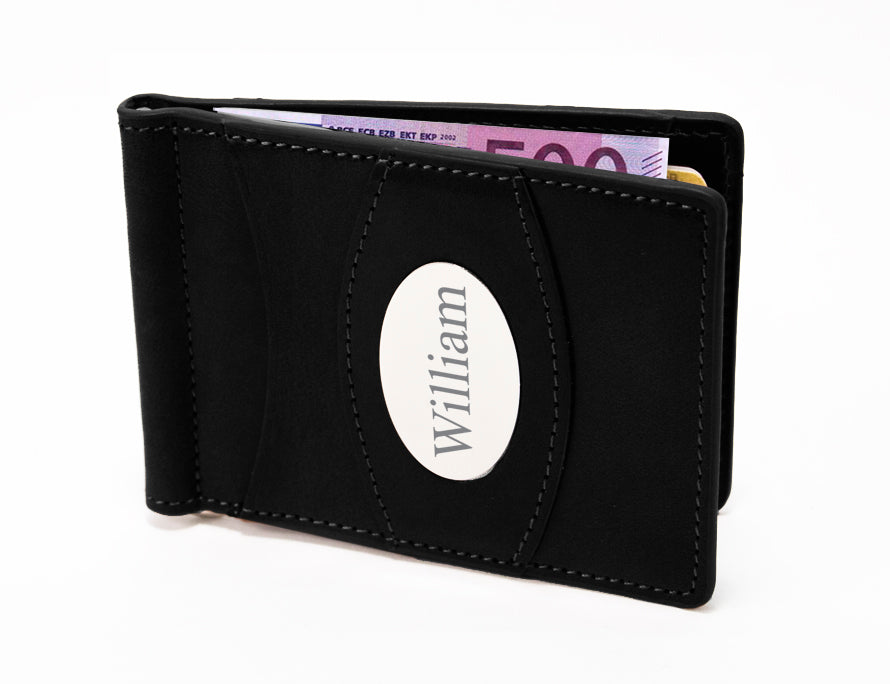 Storus® Promotions - Razor Wallet with William engraving - designed by #ScottKaminski #Storus #wallet #moneyclips #mensaccessories #PromotionalIndustry #PromotionalProducts #PromotionDistributors #Distributors #customizable #engravable #personalize
