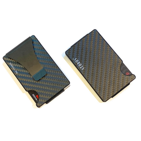 Smart Wallet Smooth Carbon Fiber