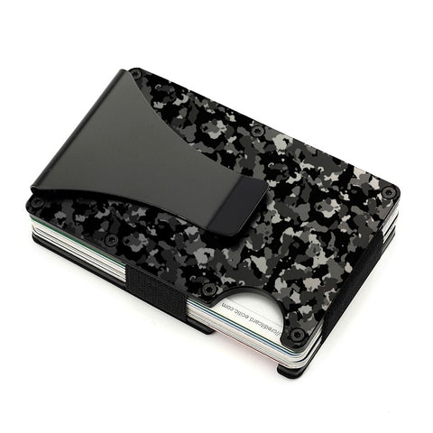 Storus Smart Wallet in Camouflage Print clip side shown