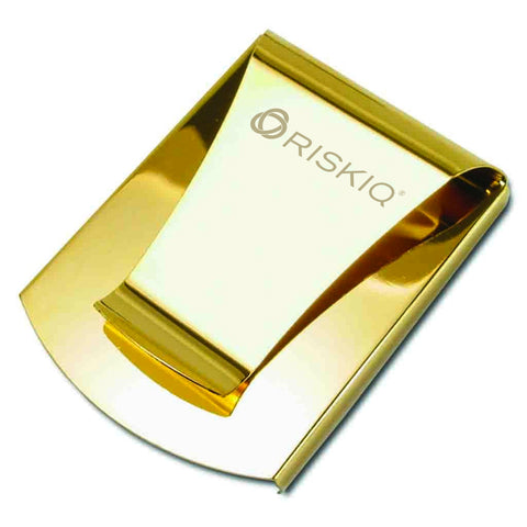 Storus® Promotions - Smart Money Clip Gold Finish with Risk IQ engraving - designed by #ScottKaminski #Storus #jewelrycase #travelcase #PromotionalProducts #PromotionDistributors #Distributors #customizable #engravable #personalize