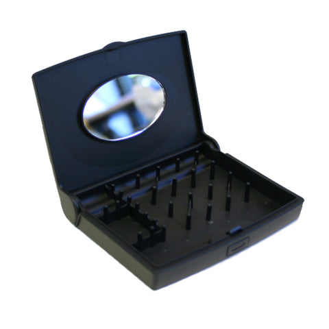 Storus® Promotions - Black Smart Jewelry Case Mini shown open  - designed by Storus