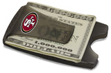 Storus® Promotions - Smart Money Clip Lite - charcoal color - with 4 color digital printing San Francisco 49ers logo - designed by #ScottKaminski #Storus #wallet #moneyclips #mensaccessories #PromotionalIndustry #PromotionalProducts #PromotionDistributors #Distributors #customizable #engravable #personalize