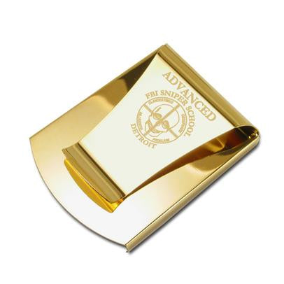 Smart Money Clip Gold with engraving