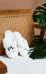 Plush Slippers - White