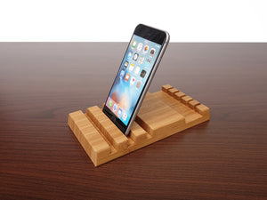 Bamboo Multiple Charging Station and Cable Organizer Station is for 3 Devices + 5 Cables