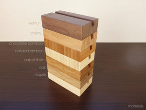 Cherry Wood Business Card Holder. Wooden Card Holder