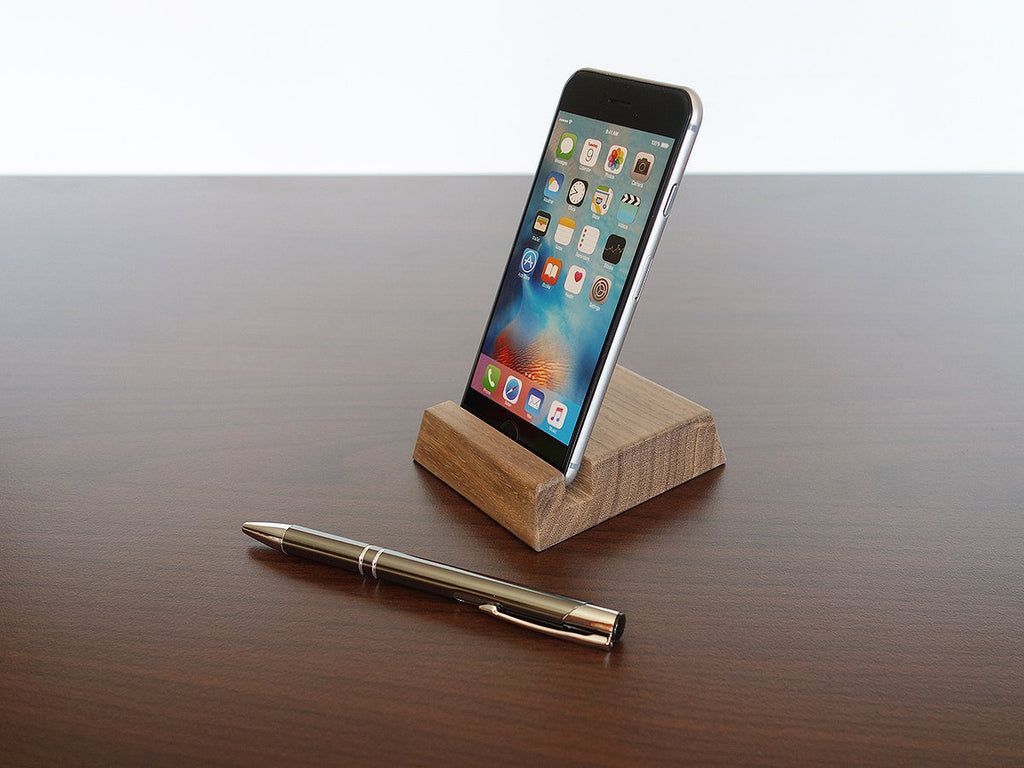 Wood iPhone Stand from Walnut for iPhone 6 7 8 X series