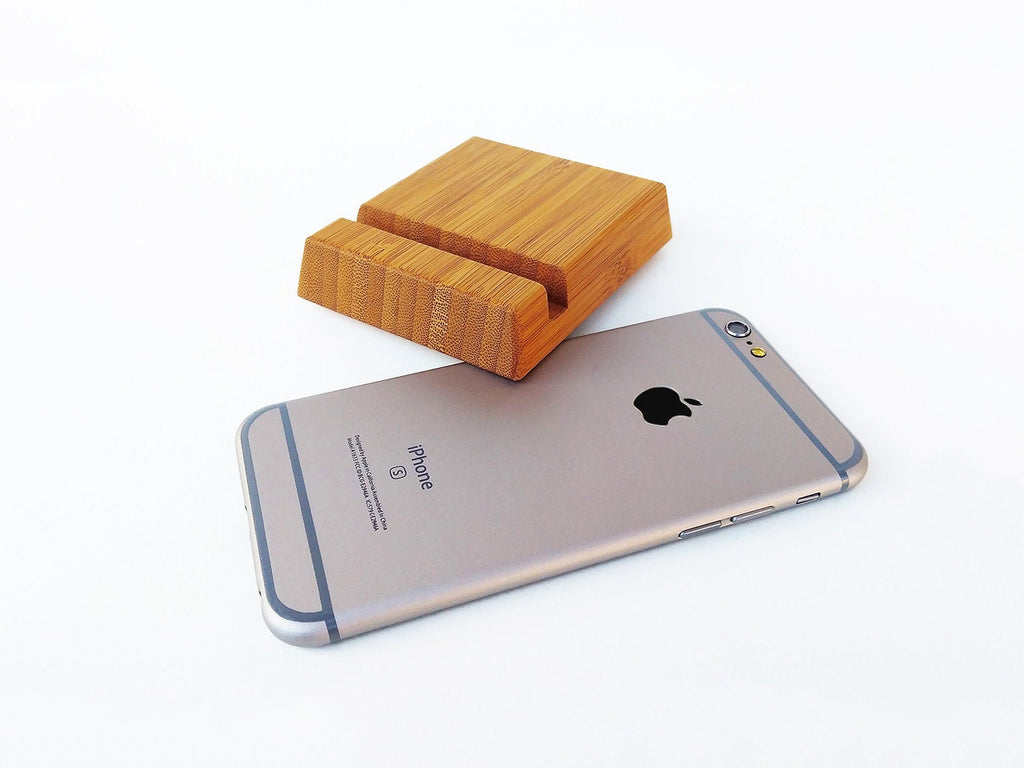 Bamboo iPhone Stand for iPhone 6 7 8 X. Wood iPhone Stand. Free Shipping!