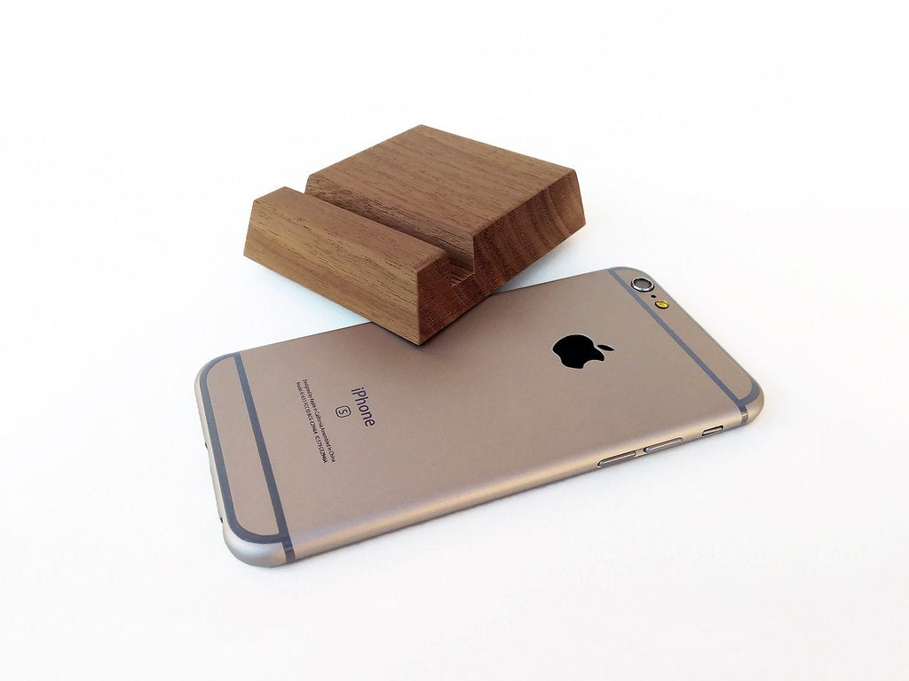 Walnut Wood iPhone Stand for iPhone 6 7 8 X Series. Wood iPhone Gadget