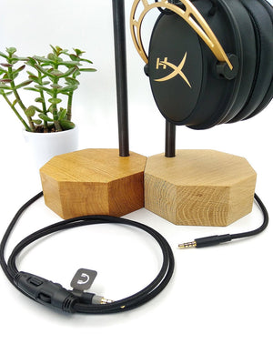 Wood Headphone Stand & Hanger. Headset Storage. Wooden Headphones Stand. Personalized Unique Gift for Men