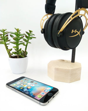 Wooden Headphones Stand. Wood Headset Hanger. Headphones Storage. Personalized Unique Gift for Men
