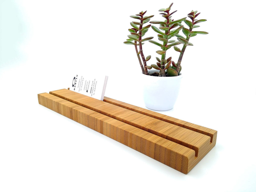 Multiple Bamboo Business Card Holder. Wood Card Holder