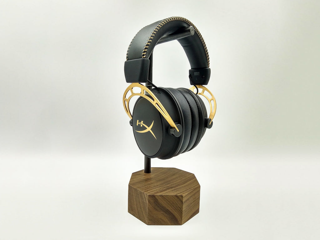 Wood Headphone Stand. Wooden Headphone Hanger. Headphones Storage. Personalized Unique Gift for Men