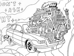 coloring pages cars art by gleznukalns creative studios