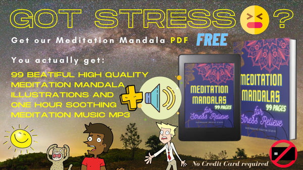 free mandala coloring book for stress relief