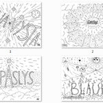 33 Pages of Latgalian Swearing Words Coloring Book - Gleznukalns
